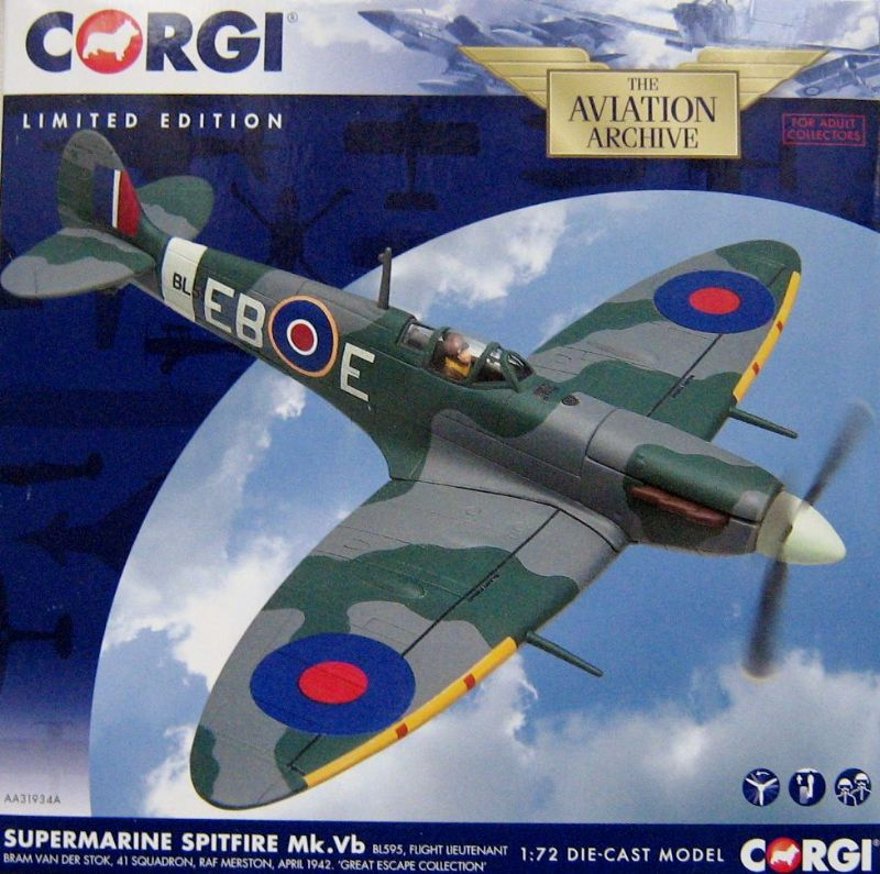 AA31934A Supermarine Spitfire Mk.Vb, BL595, Bram Van Der Stok, 'Great Escape Collection'